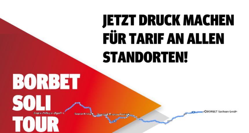 Wir fordern: Tarifvertrag für alle Standorte - BORBET Soli-Tour 2020 startet!