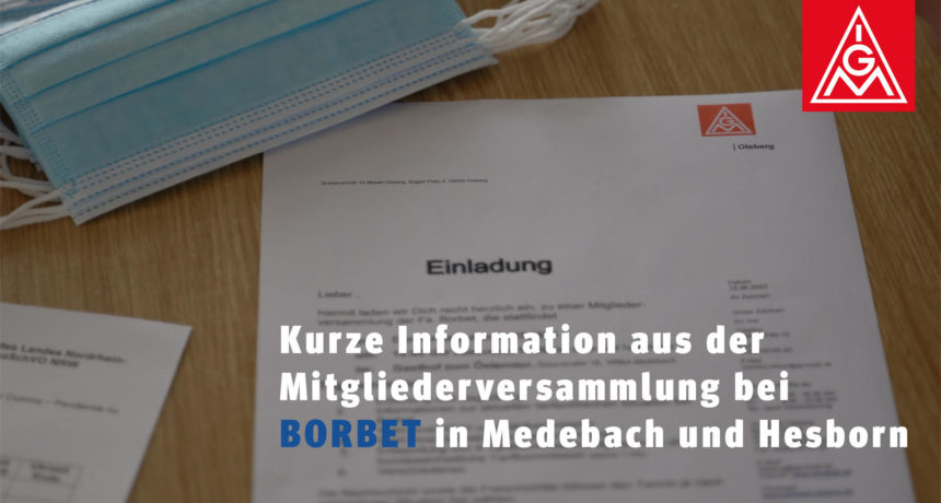 Mitgliederversammlung bei Borbet Medebach und Hesborn: Ein weiterer Schritt zum Tarifvertrag!